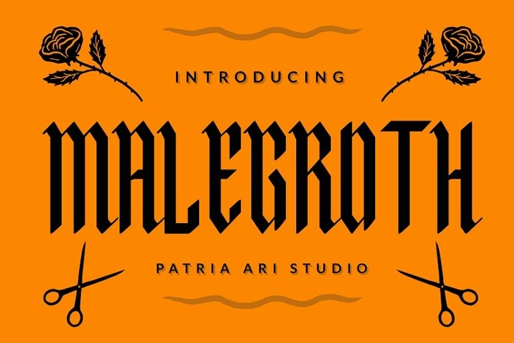 Malegroth - Blackletter Typeface example image 1