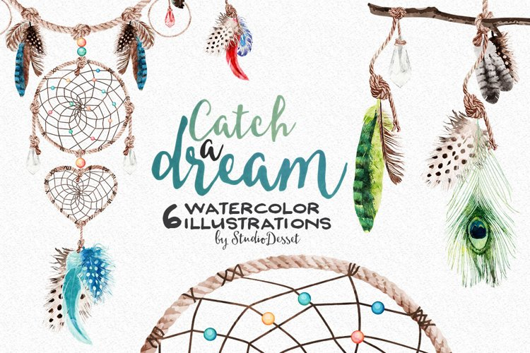 Dreamcatcher Watercolor Illustrations