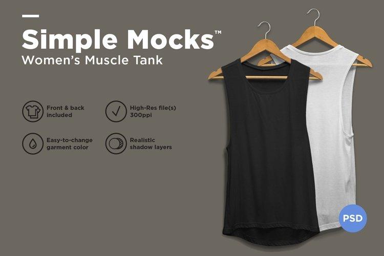 Women's Muscle Tank Mockup example image 1