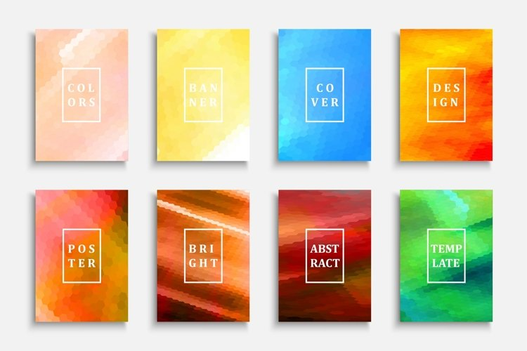 Set of bright colorful posters