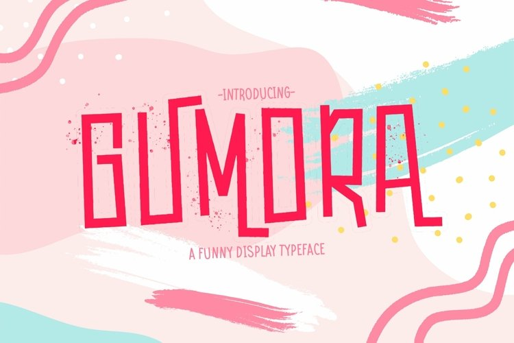 Web Font Gumora example image 1