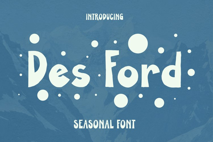 DES FORD Font example image 1