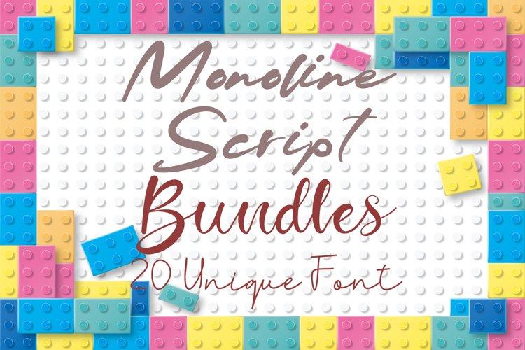 Monoline Script Bundle Vol 1 example image 1