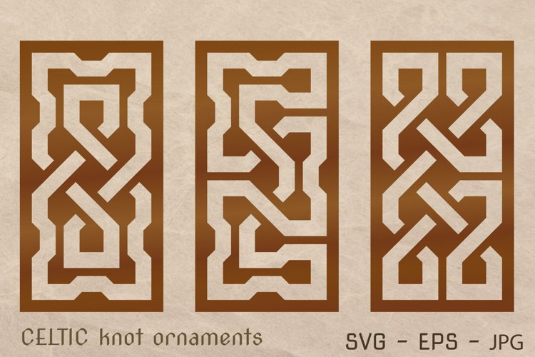 CELTIC knot ornaments set. Laser CUTTING stencil. example image 1