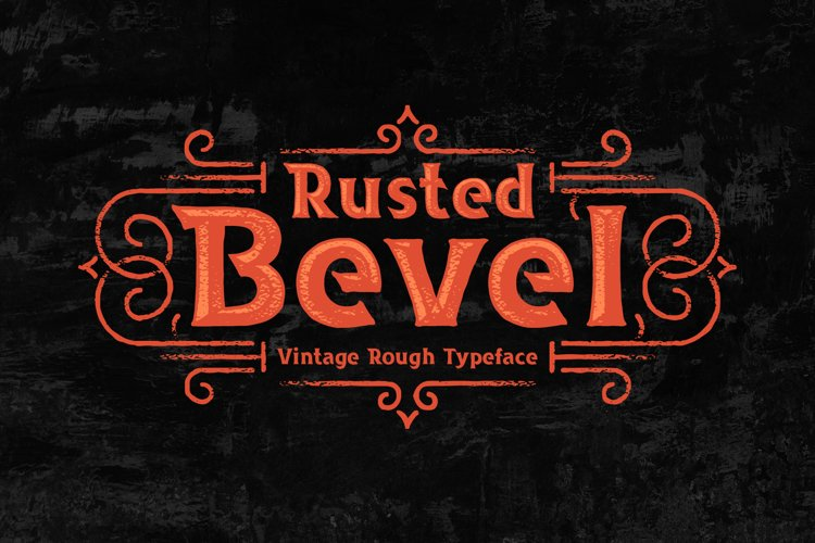 Rusted Bevel Typeface example image 1