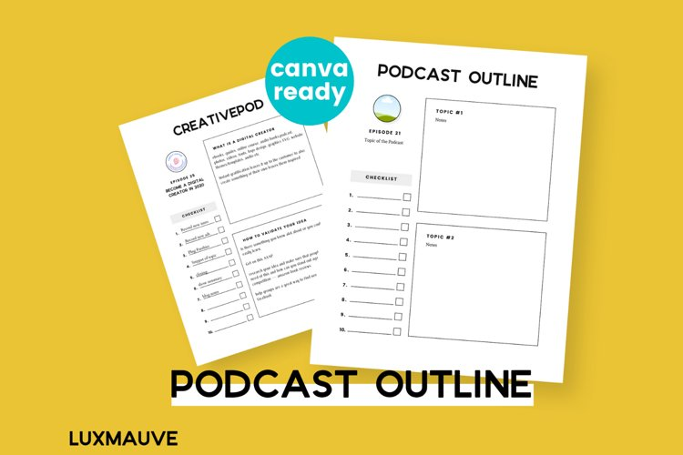 Podcast Outline Canva Template example image 1