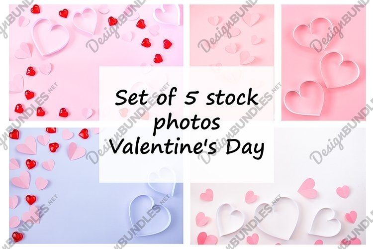 Set of 5 stock photos. Valentine's Day. example image 1