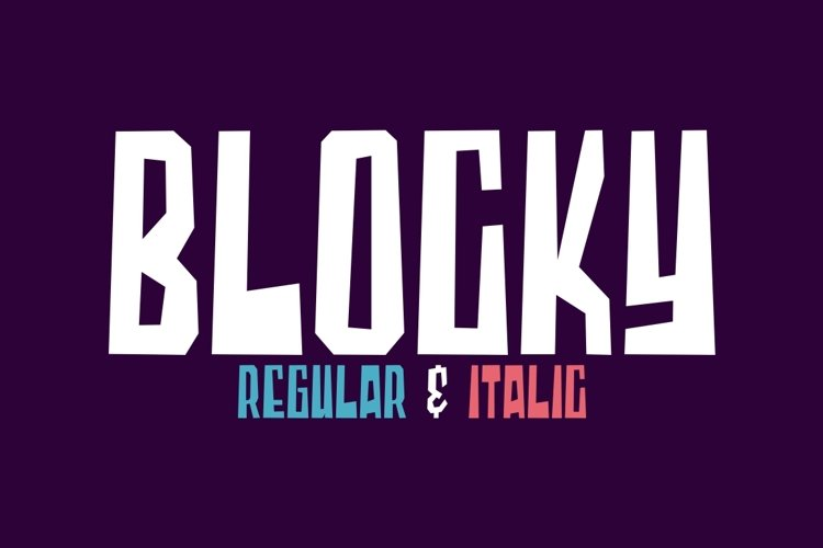 Blocky - Regular & Italic example image 1