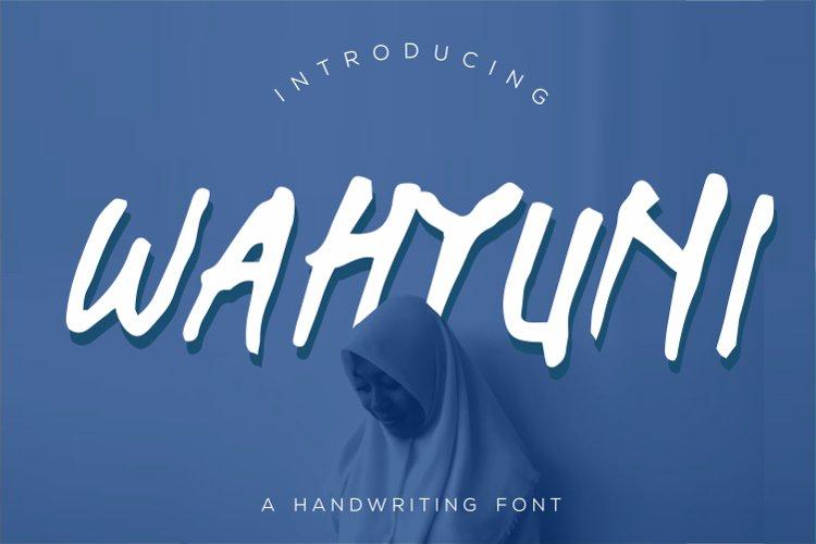 Wahyuni Font example image 1