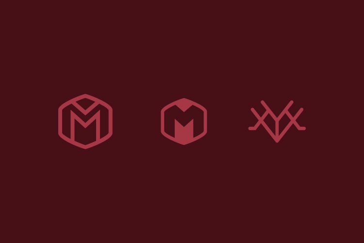 Set letter M simple logo example image 1