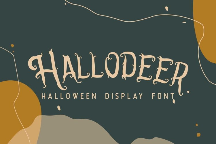 Hallodeer || Spooky Display Font example image 1
