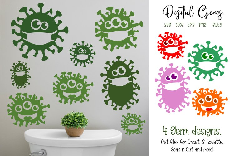 Germ designs. SVG / PNG / EPS / DXF files example image 1