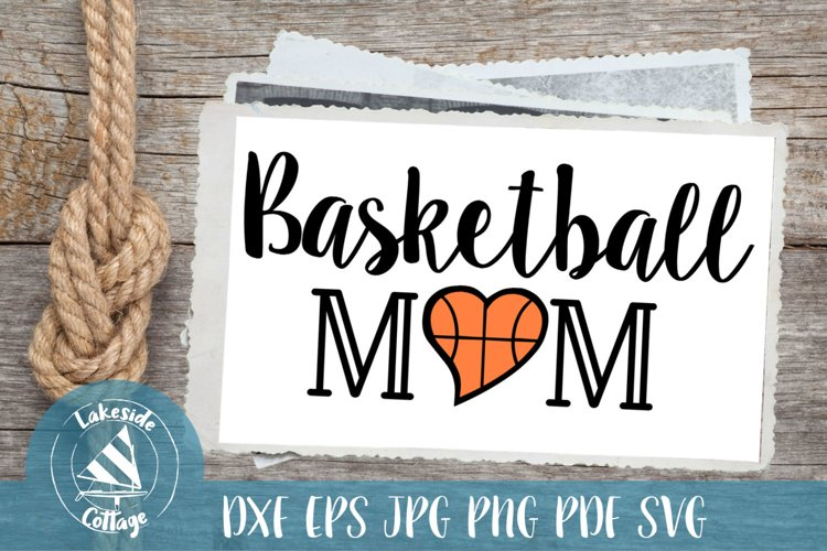 Basketball Mom Sports Mother SVG Design example image 1