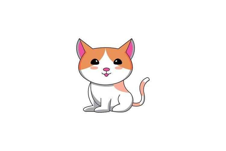 cat cute Vector design Illustration example image 1