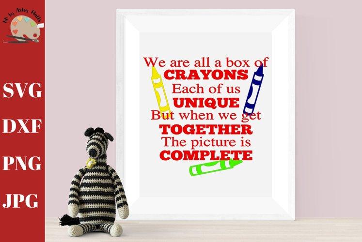 Box of Crayons School Wall Decor Teacher Wall Print example image 1