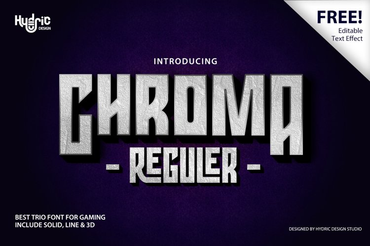 Chroma - Trio Gaming Font example image 1