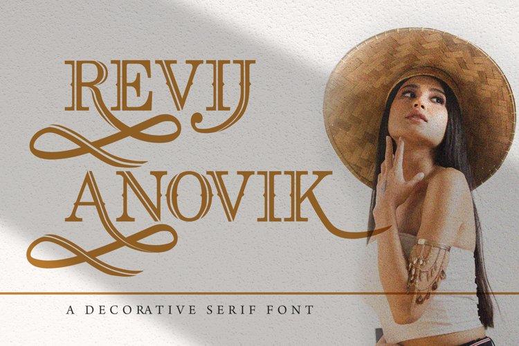 Revij Anovik - Decorative Serif Font example image 1