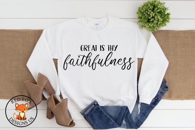 Great Is Thy Faithfulness Svg Png Dxf, Scripture Svg example image 1
