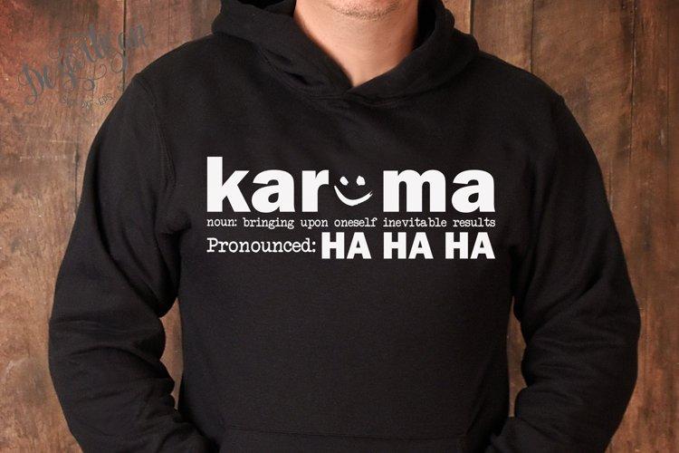 Karma pronounced Ha Ha Ha SVG   DXF example image 1