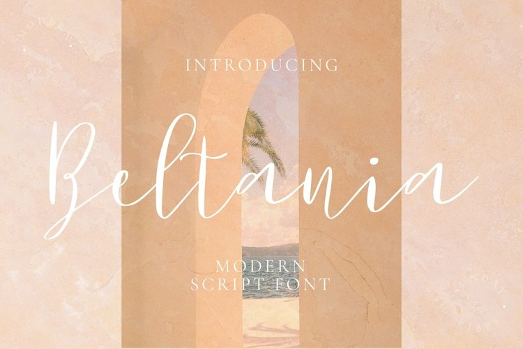 Web Font Beltania Font example image 1