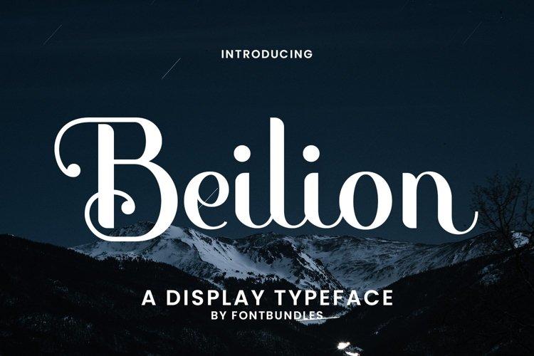 Web Font Beilion example image 1