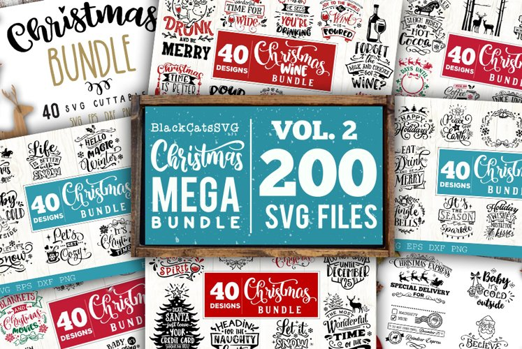 Christmas Mega Bundle SVG bundle 200 designs vol 2