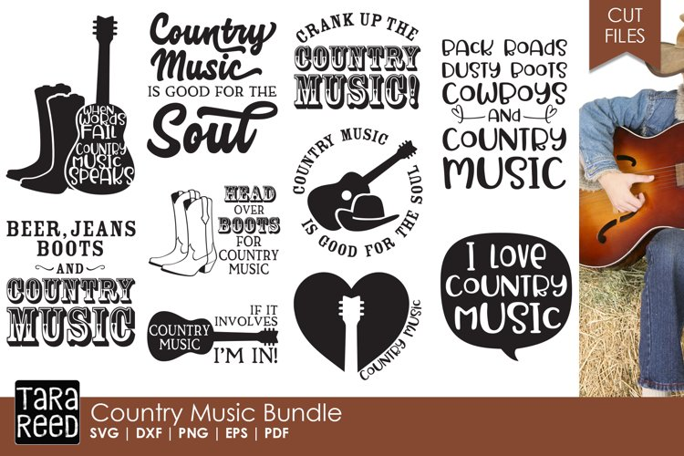 Country Music SVG and Cut Files for Crafters
