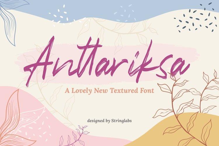 Anttariksa - Brush Script Font example image 1