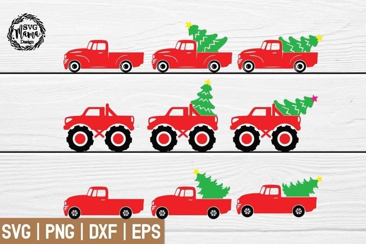 Christmas Truck SVG bundle example image 1