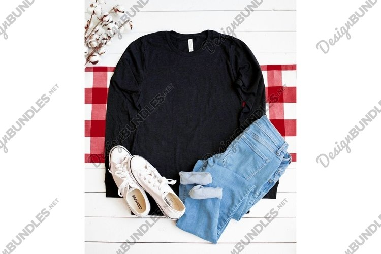 Bella Canvas 3501 Heather Black Shirt Apparel Photo