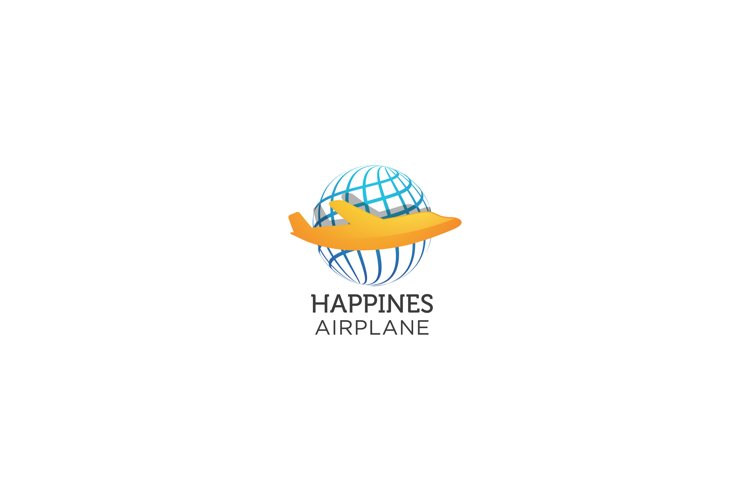 Happines Airplane - Logo Template example image 1