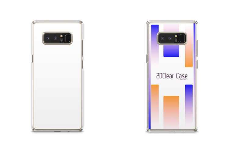 Samsung Galaxy Note 8 2dClear Case Mockup Back example image 1