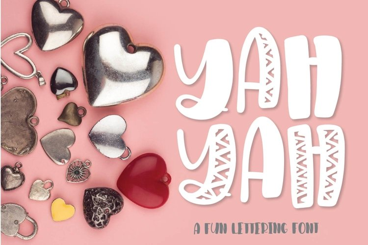 Web Font YAHYAH - A Fun Quirky Hand Lettered Font example image 1