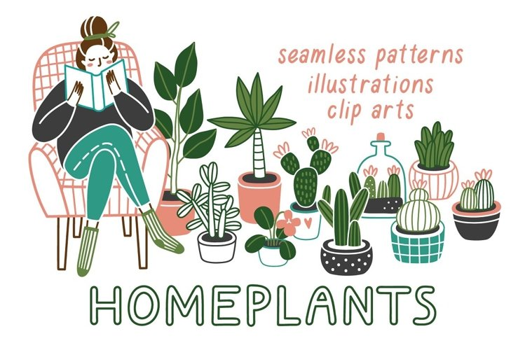 HOMEPLANTS | clip arts collection example image 1