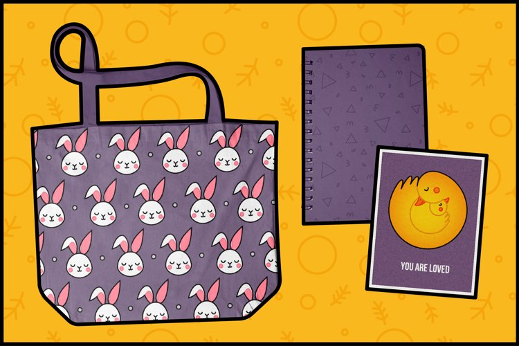 Animal Hugs Bundle - Illustrations and patterns example 4