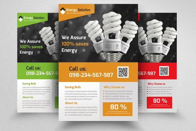 Energy Saving Corporate Flyer example image 1