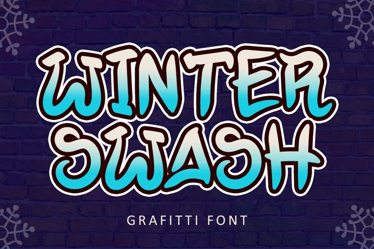 Winter Swash - Grafitti Font example image 1