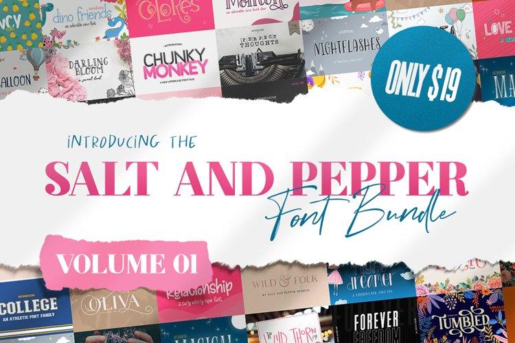The Salt & Pepper Font Bundle - Volume One example image 1