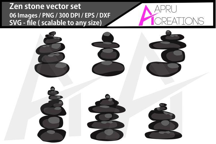 Zen stone svg / spa stone clipart example image 1