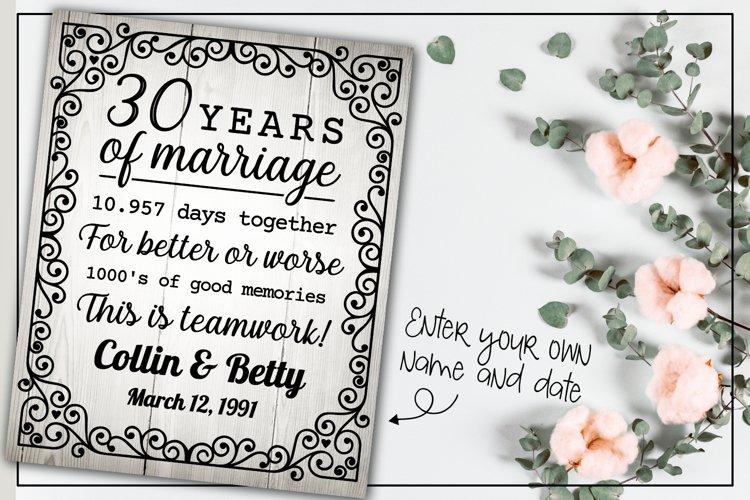 30 years wedding anniversary