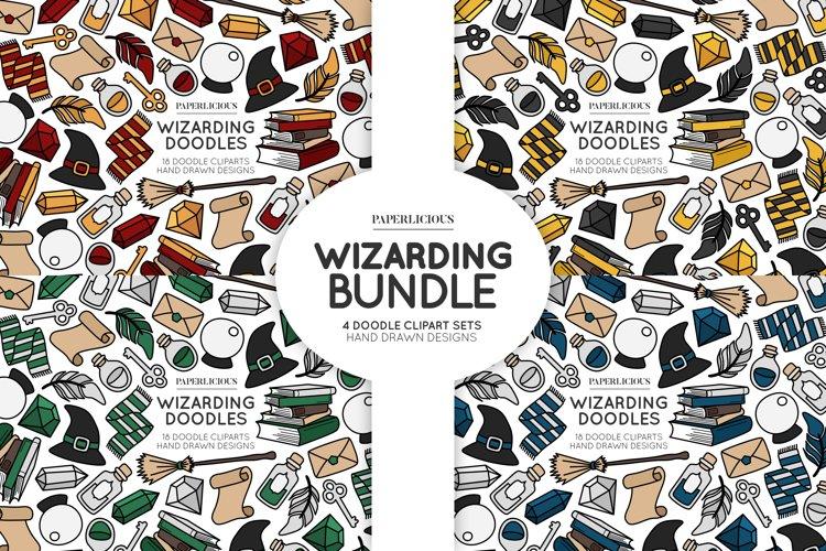Wizarding Doodle Cliparts Bundle example image 1