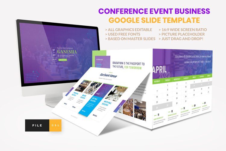 Conference - Event Business Seminar Google Slide Template example image 1