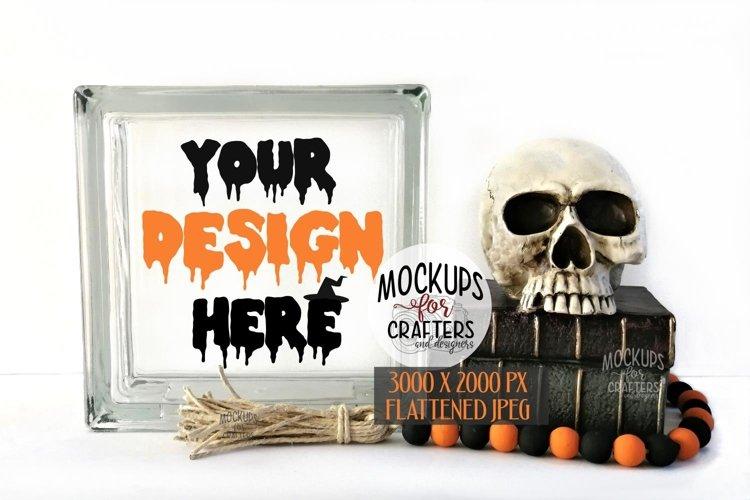 GLASS BLOCK Mock-Up - Halloween, Gothic