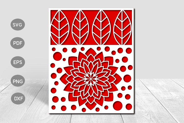 Mandala Flower Papercut Card Cover Template SVG Design example image 1