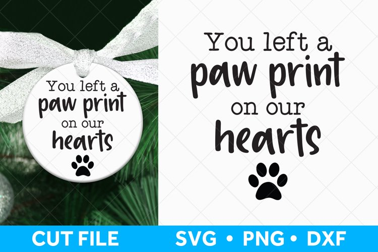 Pet Memorial SVG file for Cricut and Silhouette example image 1
