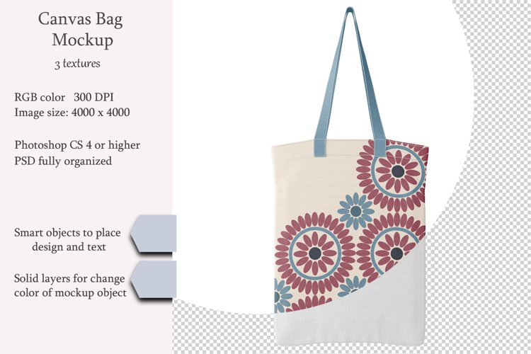 Canvas bag mockup. PSD mockup. PSD object mockup. example image 1