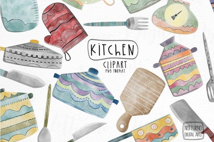 Watercolor Kitchen clipart. Kitchen utensil