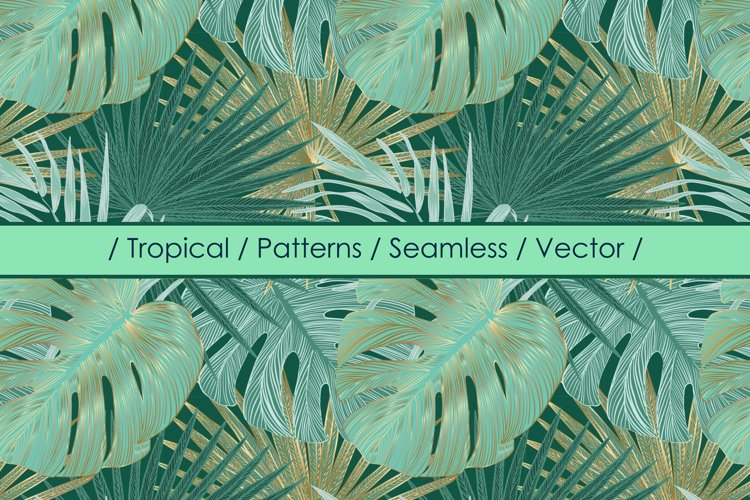 Tropical vector patterns example image 1