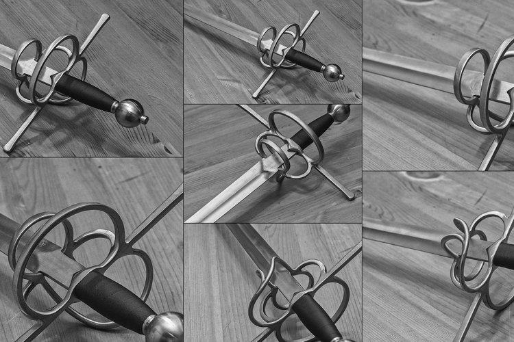 7 files - Renaissance one handed sword bundle example image 1