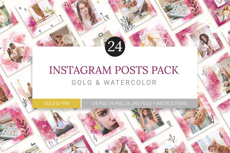 Instagram Watercolor Posts Pack 3